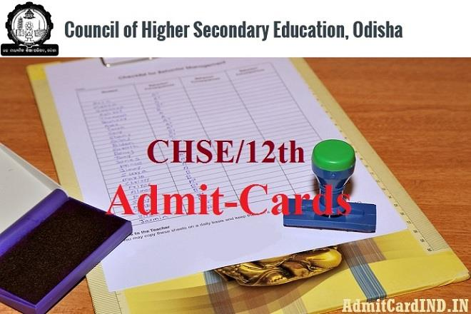 Odisha CHSE Admit Card 2018