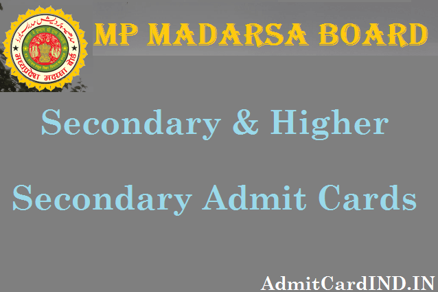 MP Madarsa Board Admit Card