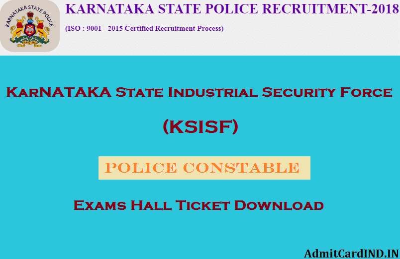 KSISF Hall Ticket