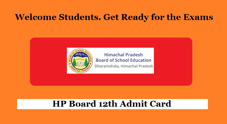 HP Board 12th Admit Card