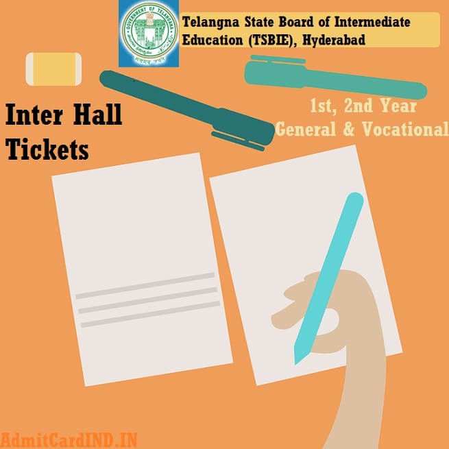 TS Inter 1st 2nd Year Hall Ticket 2020