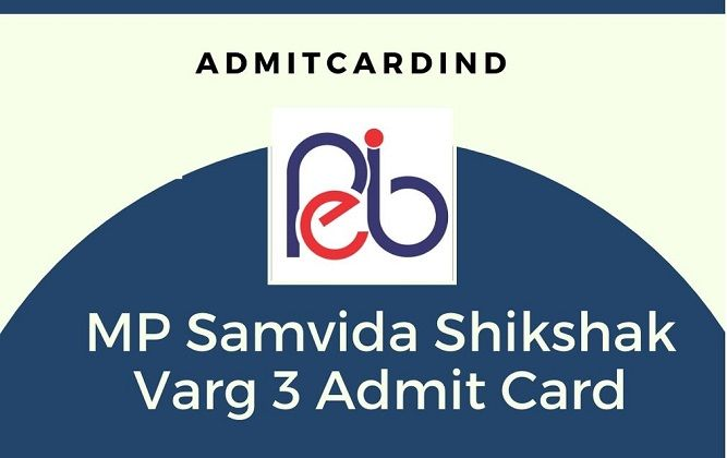 MP Samvida Shikshak Varg 3 Admit Card