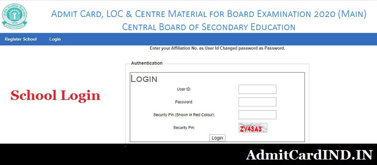 CBSE Class 12 Admit Card - Regular Candidate