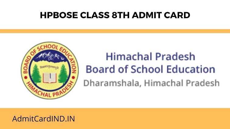 HPBOSE SOS 8th Class Admit Card