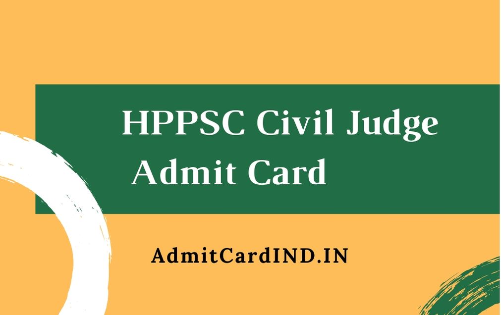 HPPSC Civil Judge Admit Card