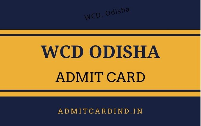 WCD Odisha Admit Card