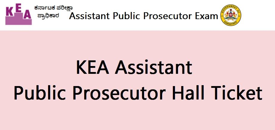 KEA Assistant Public Prosecutor Hall Ticket