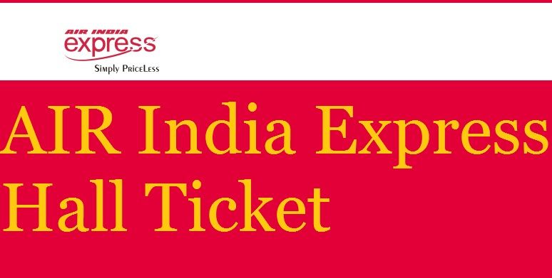 Air India Express Admit Card